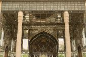 picture of tehran  - mirror decoration in the 19th century Golestan palace in Tehran - JPG