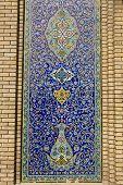 image of tehran  - decorative panels in the 19th century Golestan palace in Tehran - JPG