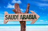 picture of saudi arabia  - Saudi Arabia wooden sign with Red Sea background - JPG
