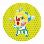 pic of clown face  - Clowns Theme Elements - JPG