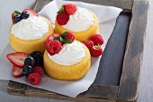 picture of fill  - Pastry cups filled with whipped cream and fresh berries - JPG