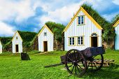 foto of iceland farm  - The village first settlers in Iceland - JPG