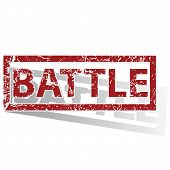 picture of battle  - Outlined red stamp with word BATTLE - JPG