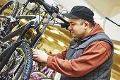 stock photo of bicycle gear  - Bike maintenance - JPG