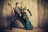 picture of tango  - Two beautiful dancers perform the tango - JPG