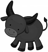 stock photo of carabao  - A Water Buffalo Standing on its Feet - JPG
