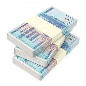 image of computer-generated  - Zimbabwean money isolated on white background - JPG