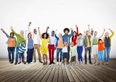 stock photo of diversity  - Diverse Diversity Ethnic Ethnicity Unity Variation Concept - JPG