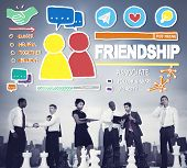 foto of comrades  - Friendship Group People Social Media Loyalty Concept - JPG