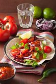 image of kidney beans  - vegan taco with vegetable - JPG
