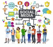 image of social-security  - Social Media Social Networking Connection Global Concept - JPG