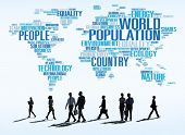 stock photo of population  - World Population Global People Community International Concept - JPG