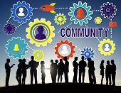 stock photo of population  - Community Culture Society Population Team Tradition Union Concept - JPG