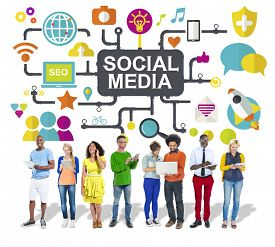 pic of social system  - Social Media Social Networking Connection Global Concept - JPG