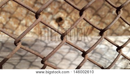 Metal mesh. Technological abstract metal mesh background