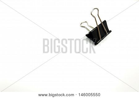 Black Paper clips isolated on white background.Paper Clips on White Background.