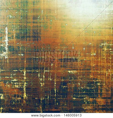 Stylish grunge texture, old damaged background. With different color patterns: yellow (beige); brown; green; red (orange); white