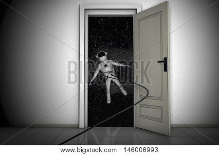 The door to the stars (3d rendering)