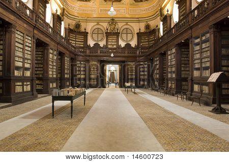 anscient Ursino library of rare books, catania, sicily, italy