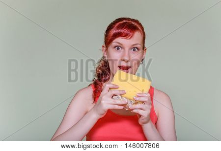Girl With A Cheese