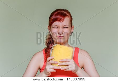 Girl With A Piece Of Cheese