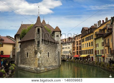 Palais du fort, ancient building in Annecy, France.  Also named