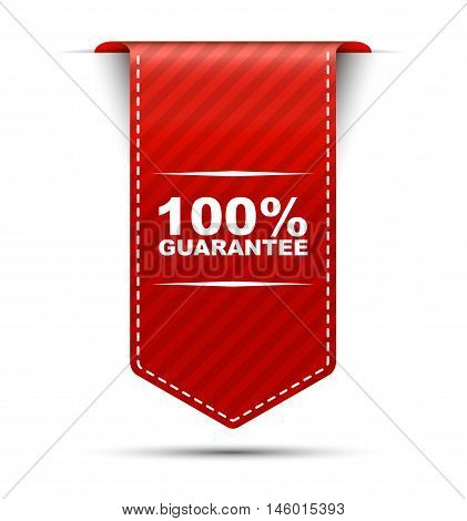 This is red vector banner design 100% guarantee