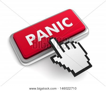 panic 3d illustration isolated on white background