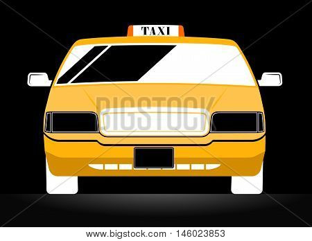 New York Yellow Taxi Cab on black background