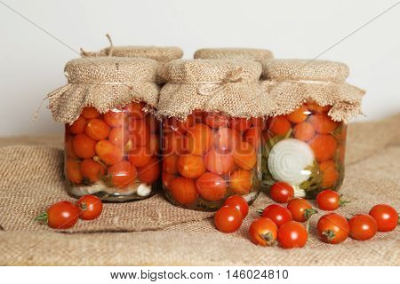 Home Canning. Banks Pickled Tomatoes
