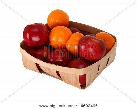 Fresh Fruits In A Basket