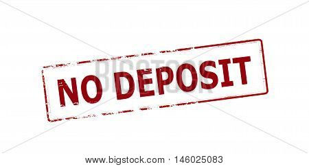 Rubber stamp with text no deposit inside vector illustration