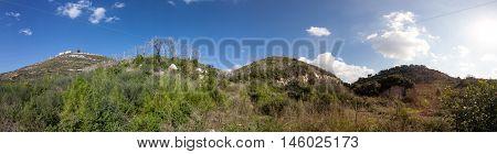 Panoramic view of Carmel Mounts. Haifa. Israel.