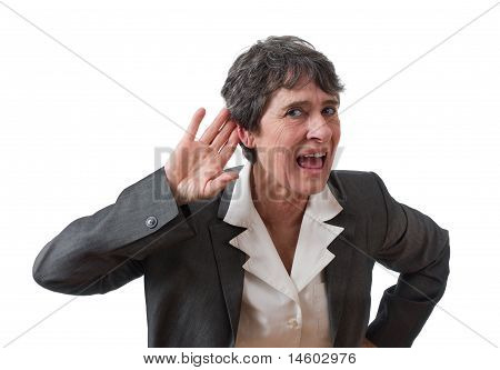 deaf mature businesswoman
