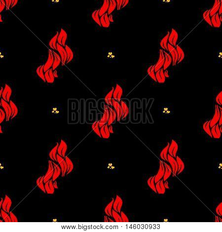 Flames and hearts seamless pattern. Heart pattern, valentine pattern seamless, flame pattern background, vector illustration
