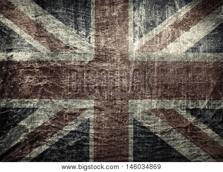old worn and grunge England flag