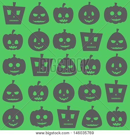Seamless Halloween Party Pumpkin Pattern