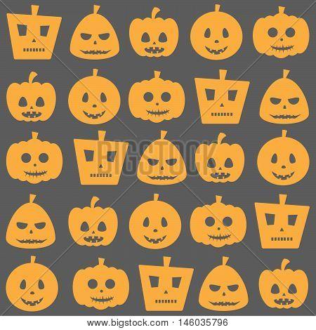Seamless Halloween Pumpkin Pattern
