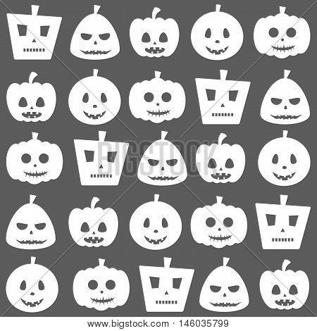 Seamless Halloween Pumpkin Pattern Background