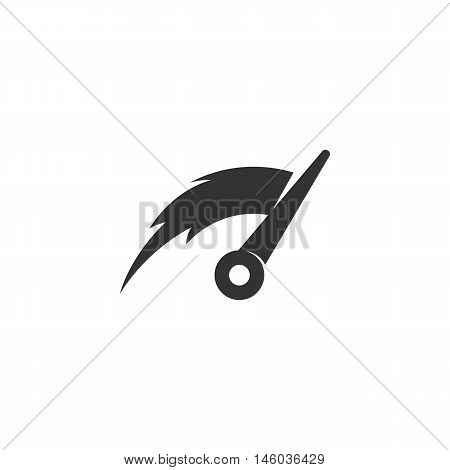 Vector Speed icon isolated on a white background. Speed logo in flat style. Simple icon as element for design. Vector symbol, sign, pictogram, illustration