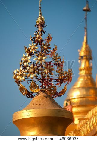 The Maha Lawka Marazein Pagoda at the center of the Kuthodaw Pagoda.