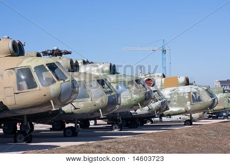 Soviet attack helicopter
