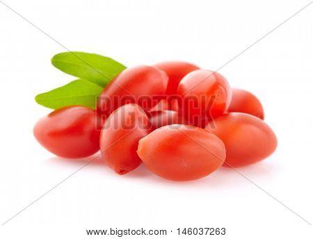 Goji berries with leaves