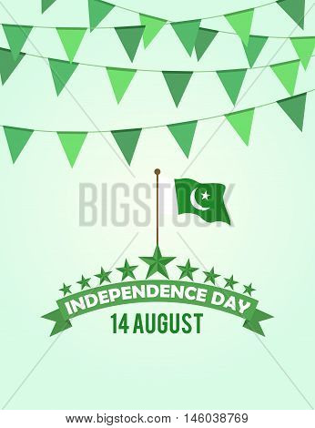 Pakistan Independence day buntings and flag design