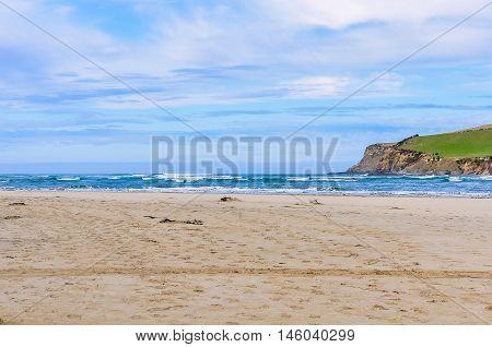 Coastal Landscape In The Catlins, New Zealand