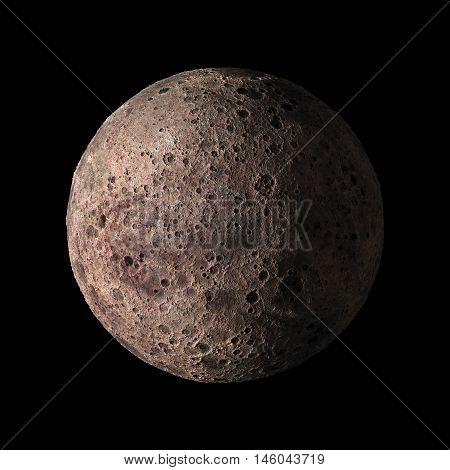 Alien Solar System Planet On Black Background 3D Rendering. Elements Of This Image Furnished By Nasa