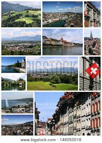 Switzerland Collage