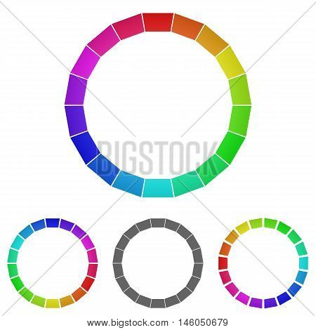 Rainbow ring logo vector. Ring icon symbol design template set for color, palette, wheel, happiness concepts.