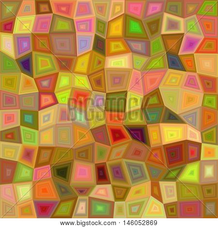 Colorful irregular rectangle mosaic pattern vector background