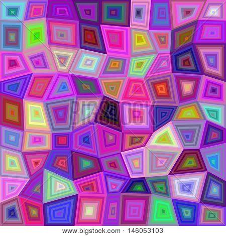 Multicolor irregular rectangle tile mosaic vector background